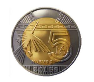 Moneda 5 soles Peru